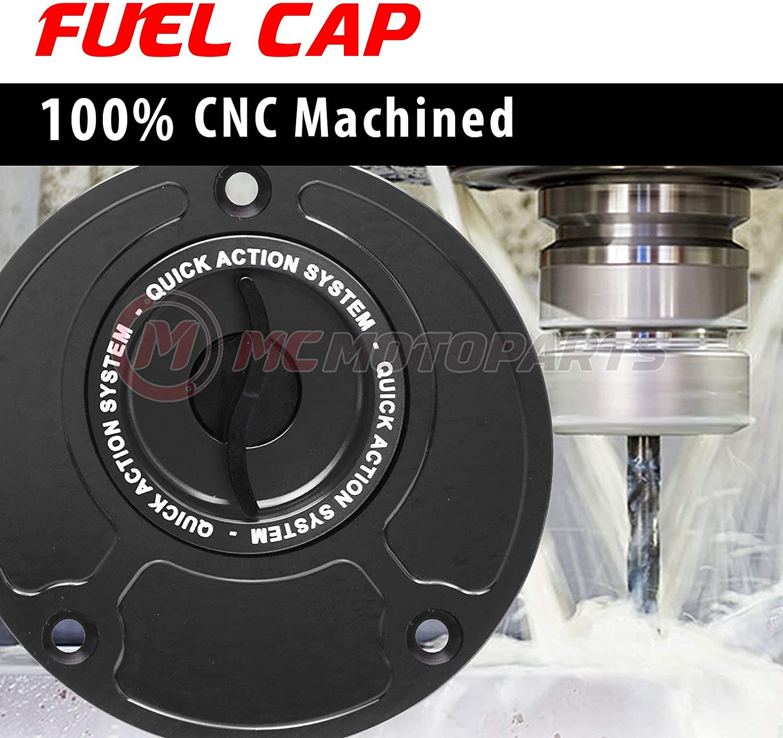 Black CNC Quick Lock Fuel Gas Cap For Suzuki SV650S 2004-2012 SV1000S 2004-2007 GSX 650F 2008-2013 GSX-R 600 750 1000 Hayabusa