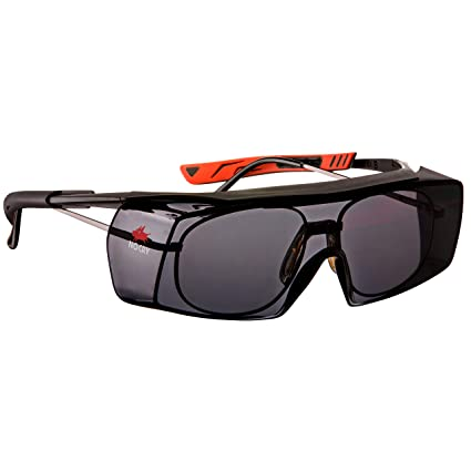 28d4d0017d NoCry Tinted Over-Spec Safety Glasses - with Anti-Scratch Wraparound Lenses