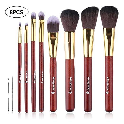 MiroPure 8 Piece Kabuki Makeup Brush Set