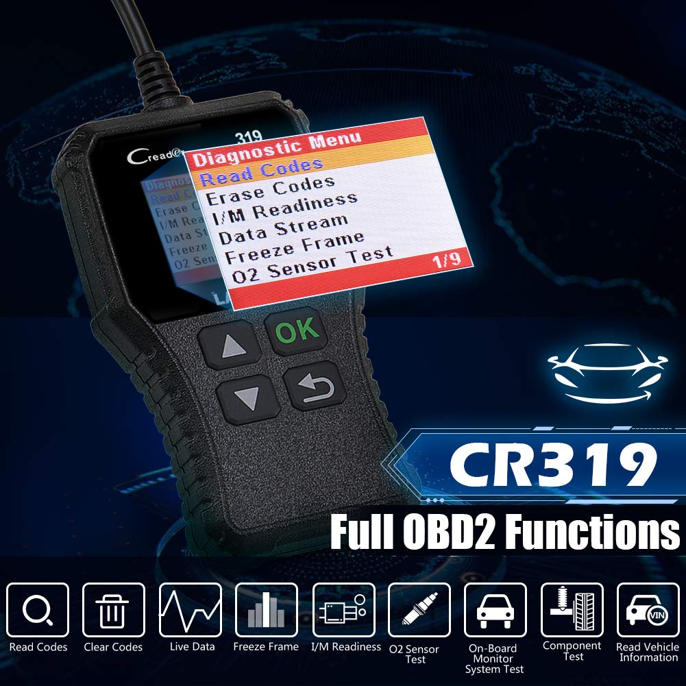 LAUNCH CR319 Code Reader Automotive Engine Light Check OBD2 Scanner,CAN Diagnostic Scan Tool with Full OBD II Functions (CR319) by LAUNCH (Image #2)