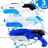 TNELTUEB Super Water Gun for Kids, 3 Pack Water Soaker Blaster Squirt Gun Fast Trigger Summer Toy for Swimming Pools Party Ou