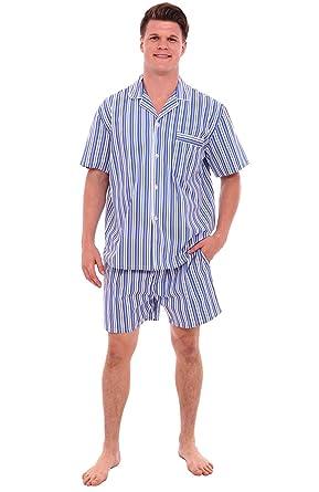 Alexander Del Rossa Mens Cotton Striped Pajamas 91b5d262a