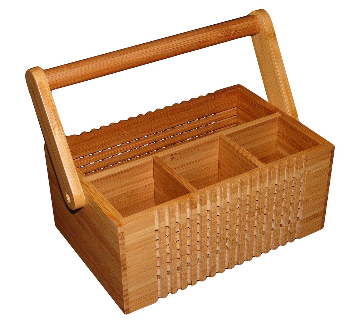 Totally Bamboo Lattice Flatware Caddy with Handle by Totally Bamboo