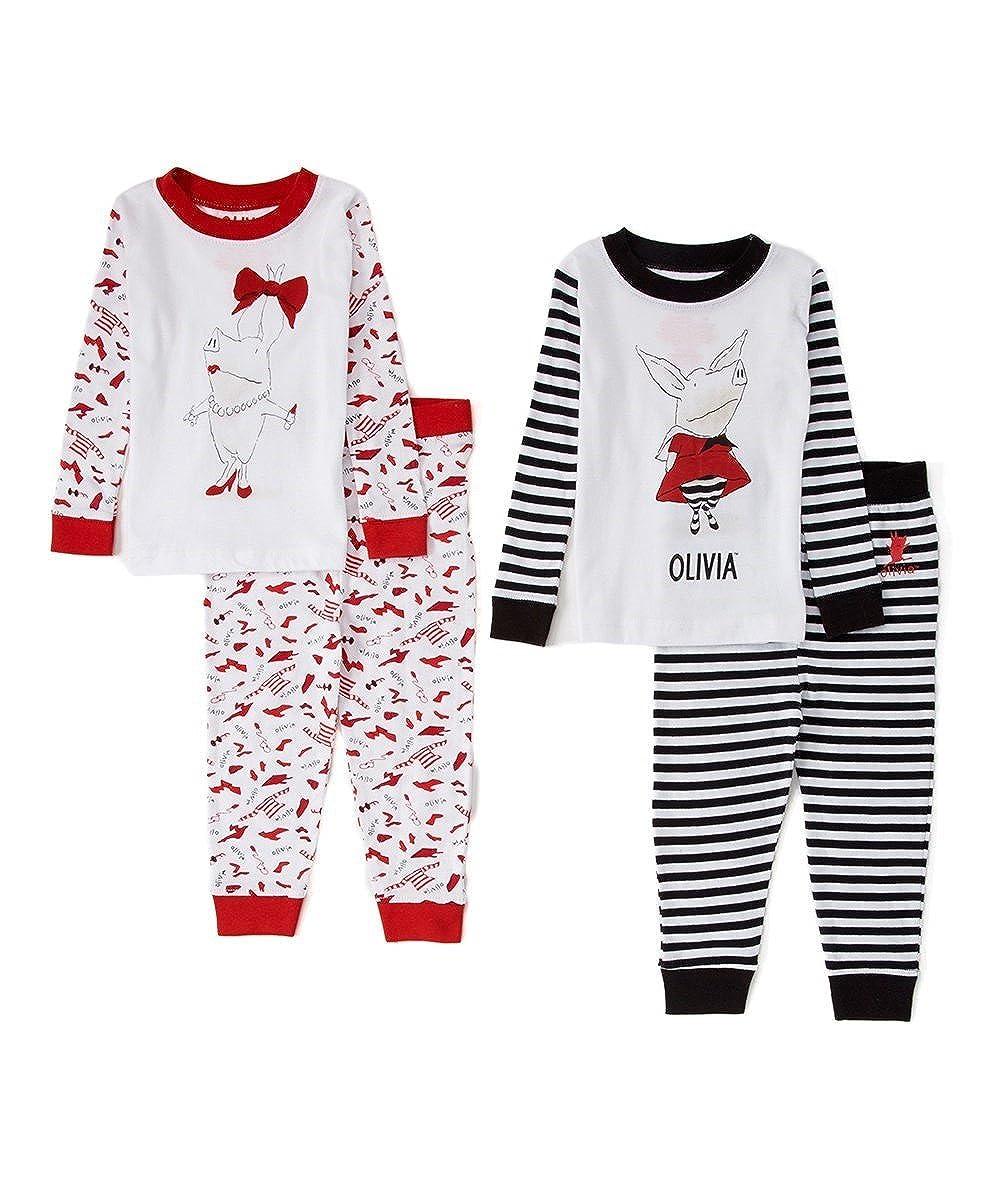 【お取り寄せ】 Olivia The Pig SLEEPWEAR SLEEPWEAR ベビーガールズ 18 18 Months レッド/ブラック B073HJT6YJ B073HJT6YJ, 白糠町:2459a60c --- a0267596.xsph.ru