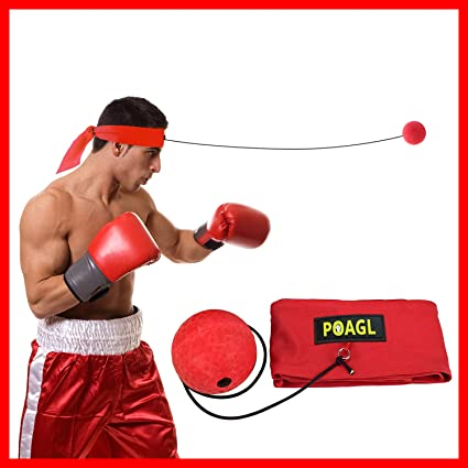 Signature Athletics Boxing Reflex Ball on a String With Boxing Hand Wrap Set