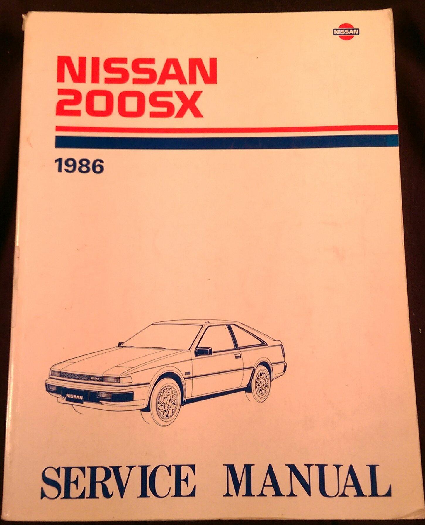 1986 Nissan 200SX Shop Service Repair Manual 200 SX: Nissan Motor  Corporation: Amazon.com: Books