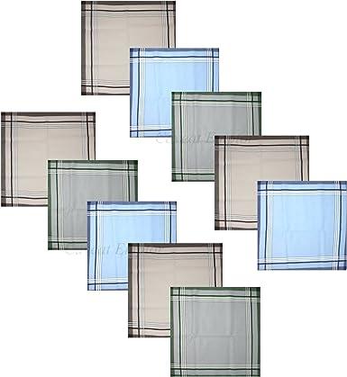 10x Verline Pañuelo Para Hombre Clásico 40 x 40 cm 100% Algodón ...