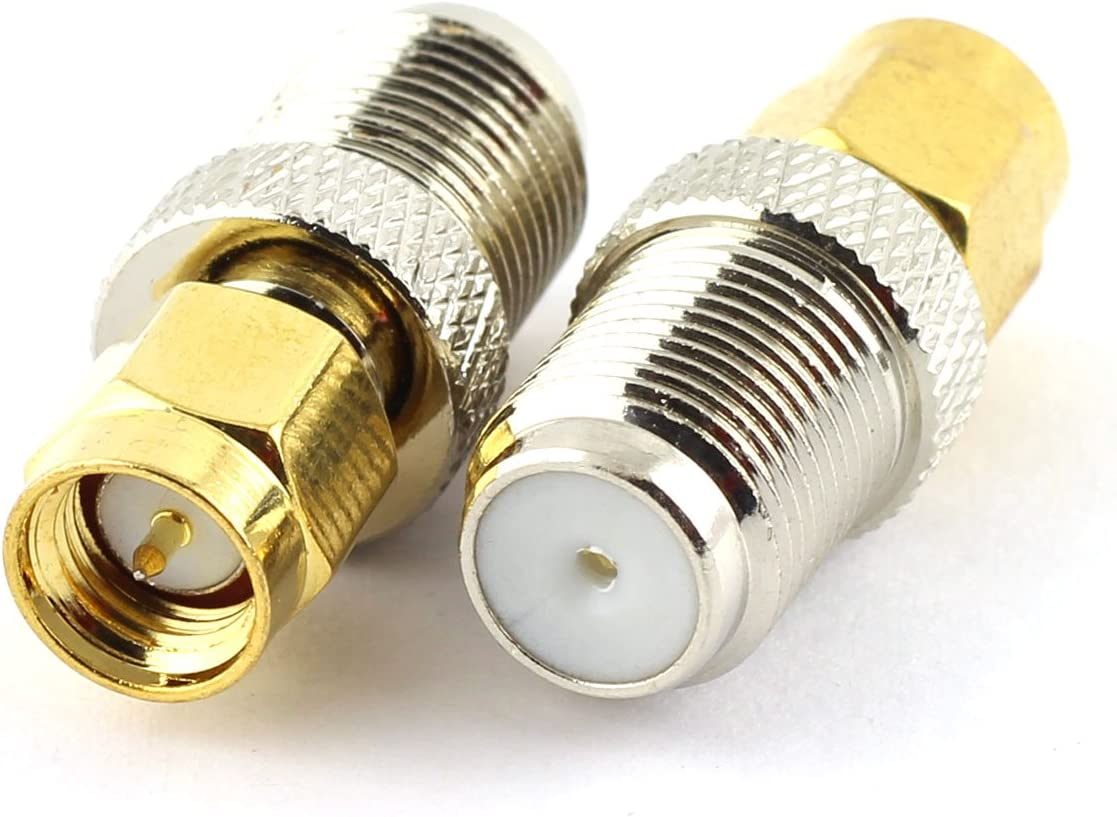 SMA Male to F Female coax RF Connector Adapter; Fast Shipping; US Seller