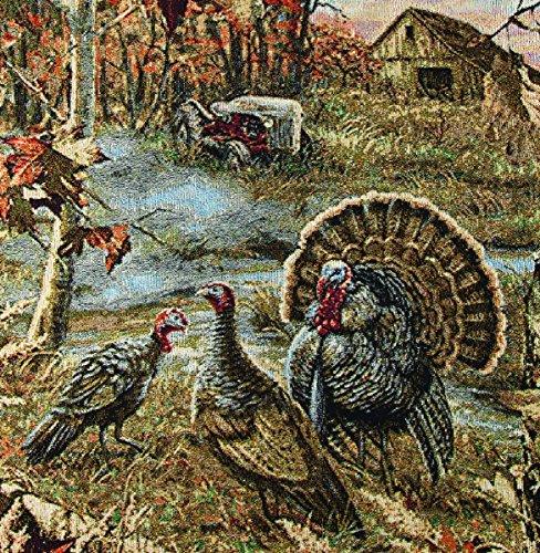 Manual-Turkey-Ranch-Wildlife-100-Cotton-Tapestry-Throw-Blanket-ATTYRH-50x60