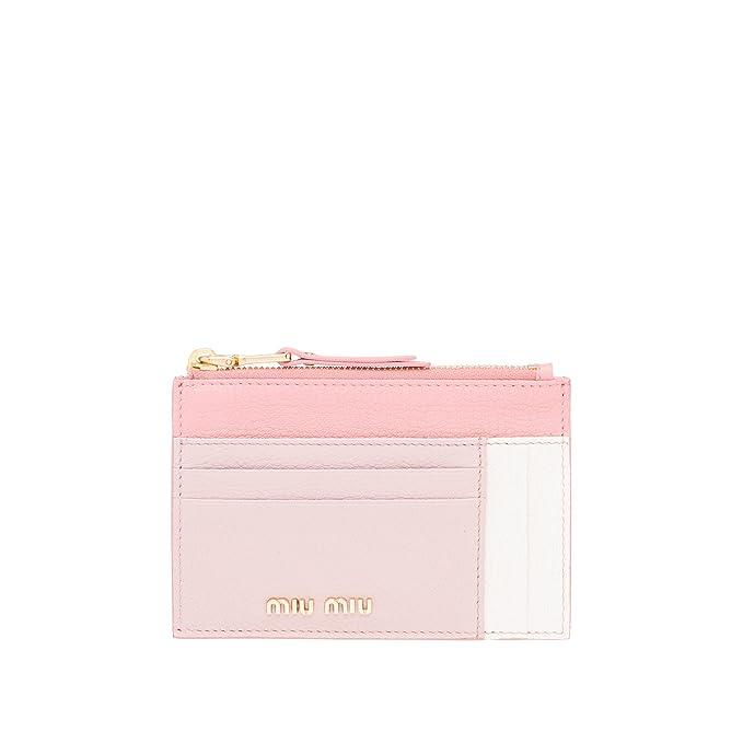 Miu Miu - Cartera para mujer de piel Mujer Rosa rosa Talla De La Marca Talla única: Amazon.es: Ropa y accesorios