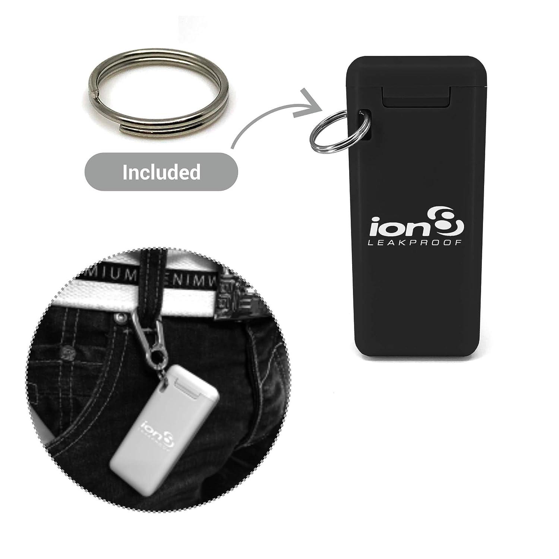 Ion8 Cannuccia pieghevole riutilizzabile in acciaio INOX per uso alimentare con custodia da viaggio Green