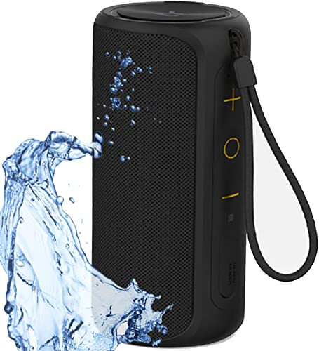Aneerx Portable Bluetooth Speakers IPX7 Waterproof Dustproof Dual Drivers Rich Enhanced Deep Bass, Built in Mic for Hands free Calling, Surround Outdoor Loud Wireless Speaker, 360 Sound Home, Shower