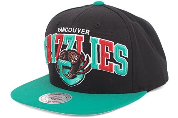 a3df7a53cd6 Vancouver Grizzlies Black Teal Two Tone Arch Snapback Adjustable Plastic Hat    Cap