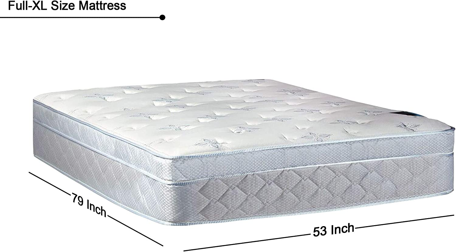 Twin Size Greton Fully Assembled Medium plush Foam Encased Eurotop Pillowtop Innerspring Mattress And 4 Low Profile Wood Traditional Box Spring//Foundation Set,Good For The Back
