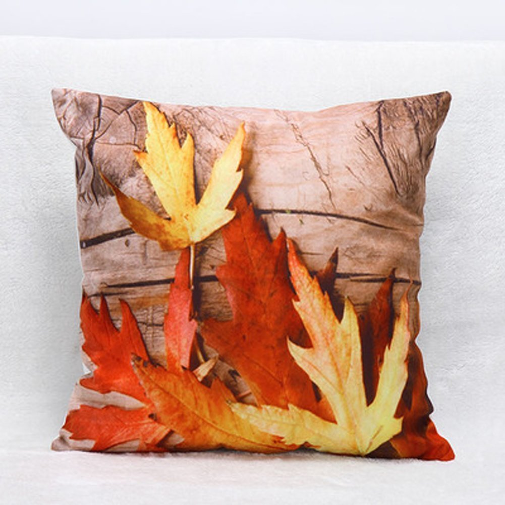Fly Array 1Pack Pillow Cover Maple Leaves Home Fashion Designs Pillows Covers 4040CM Sofa Home Décor (Wood)
