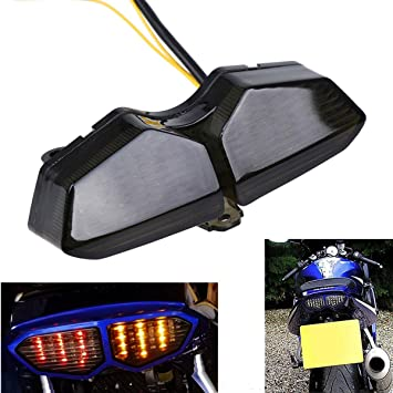 MZS Tail Light Turn Signal LED Integrated Blinker Smoke for Yamaha YZF R6  YZF-R6 2003-2005/ R6S