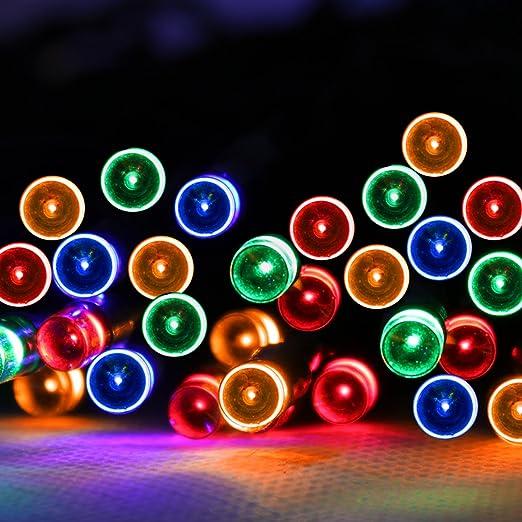 Pms 100 led multi color solar fairy strip light waterproof garden pms 100 led multi color solar fairy strip light waterproof garden outdoor christmas lights aloadofball Gallery