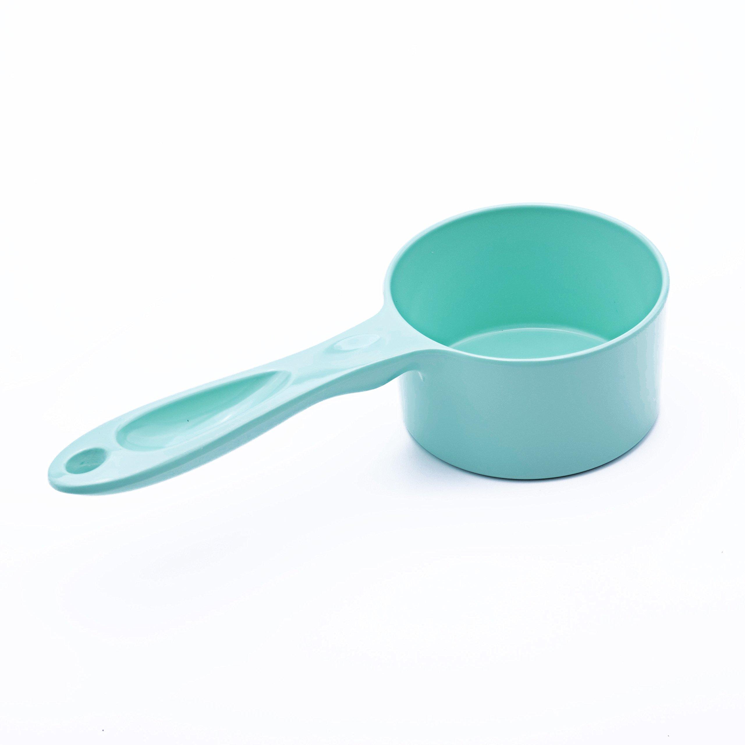 SUPER DESIGN Melamine Food Scoop for Bird Cat or Dog Food Light Green S