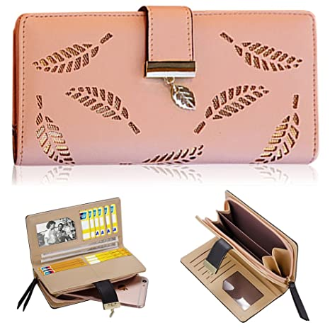 Vandot - Mujer Carteras de embrague con cremallera Cuero PU Leather tarjeta Carteras y monederos Piel Bolso ...