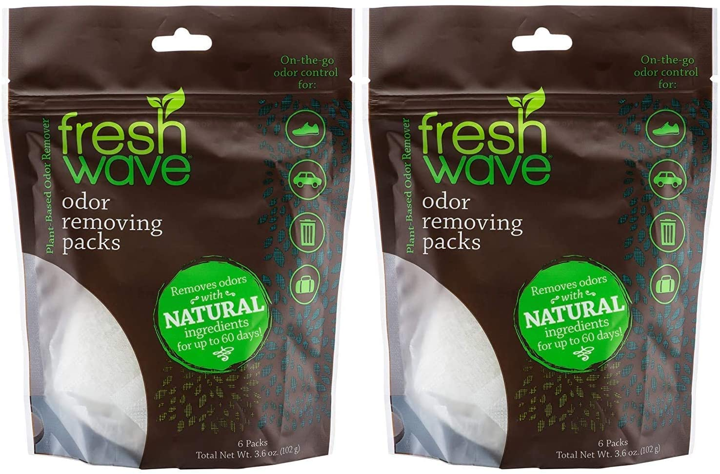 Fresh Wave Odor Eliminating & Deodorizing Packs, 2 Bags of 6 Each