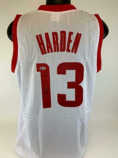 63284c73 Image Unavailable. Image not available for. Color: James Harden Autographed  Signed Memorabilia Jersey Rockets ...