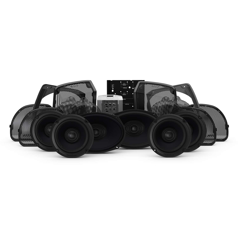 Harley-Davidson Road Glide Ultra /& Street Glide Ultra Rockford Fosgate HD14U-STAGE3 Six Speakers /& Amplifier Kit for 2014