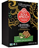 Soul Sprout, by Two Moms Sprouted Almond Protein Crackers, Zesty Italian Herb, 4.5 Ounce