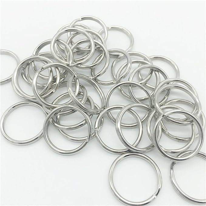 100 Stück Kleine Bastel Ringe 25mm Metall Ringe zum Schlüsselanhänger Basteln