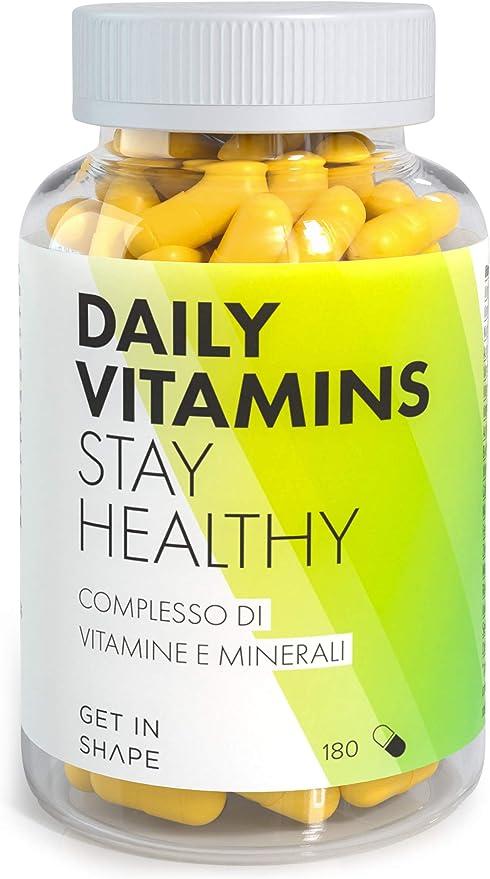 76 opinioni per DAILY VITAMINS- Integratore multivitaminico e mulitiminerale vegano, 180