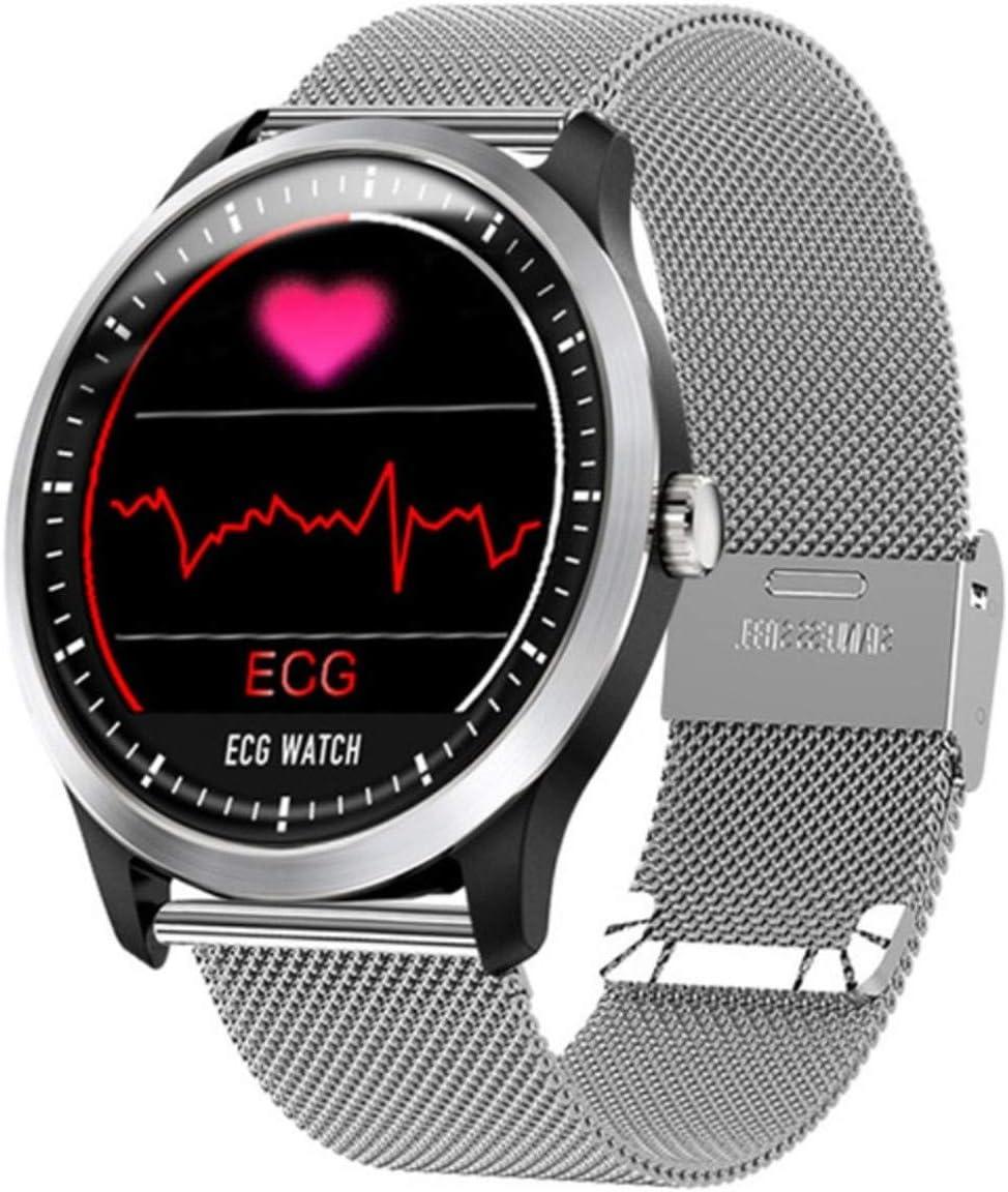 TOPE Reloj Inteligente ECG PPG Reloj Inteligente con electrocardiógrafo ECG Pantalla Holter ECG Monitor de Ritmo cardíaco Presión Arterial Pulsera Inteligente para Mujeres