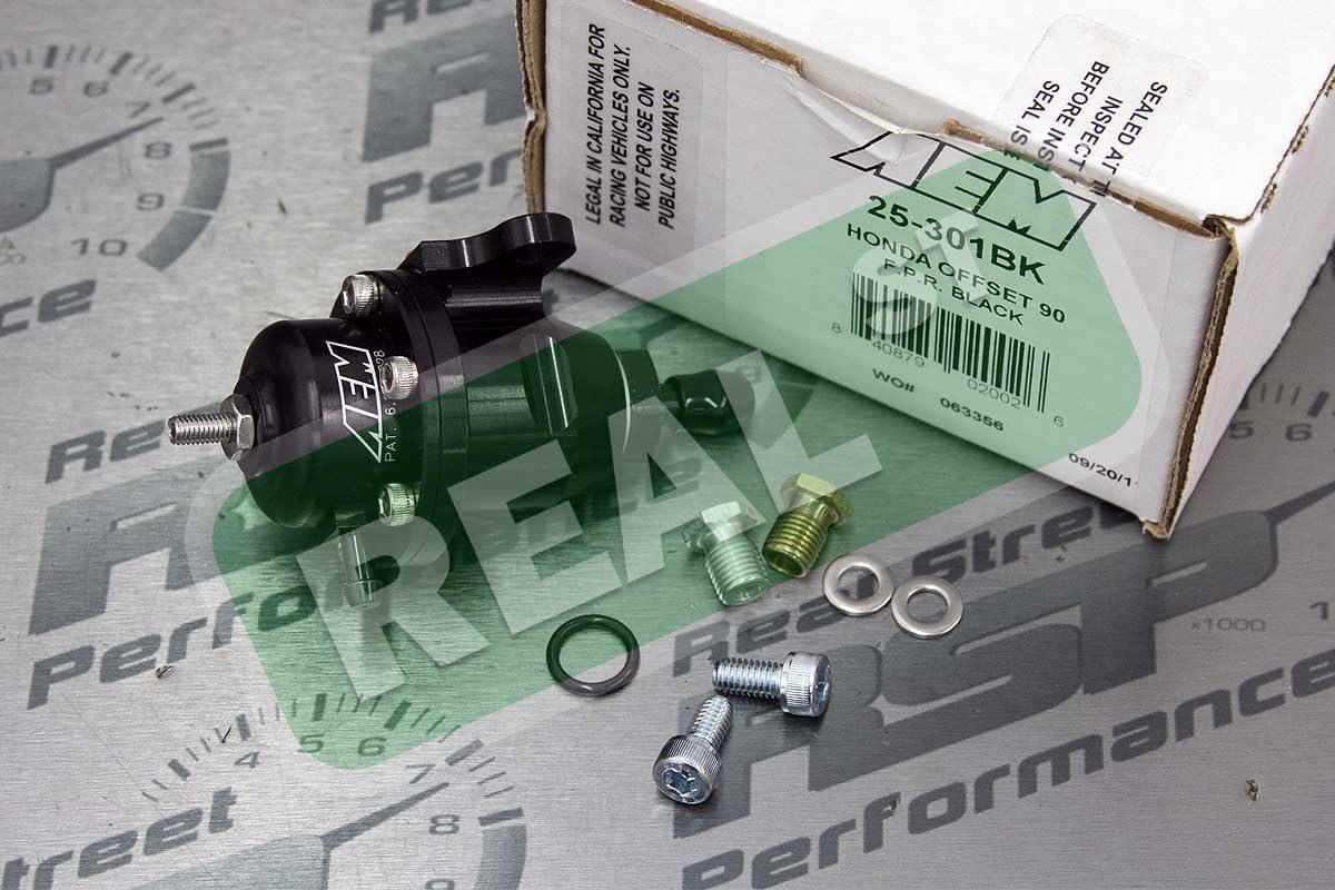 AEM Electronics 25-301BK Compatabile with 1998-1998 Acura CL Adjustable Fuel Pressure Regulator