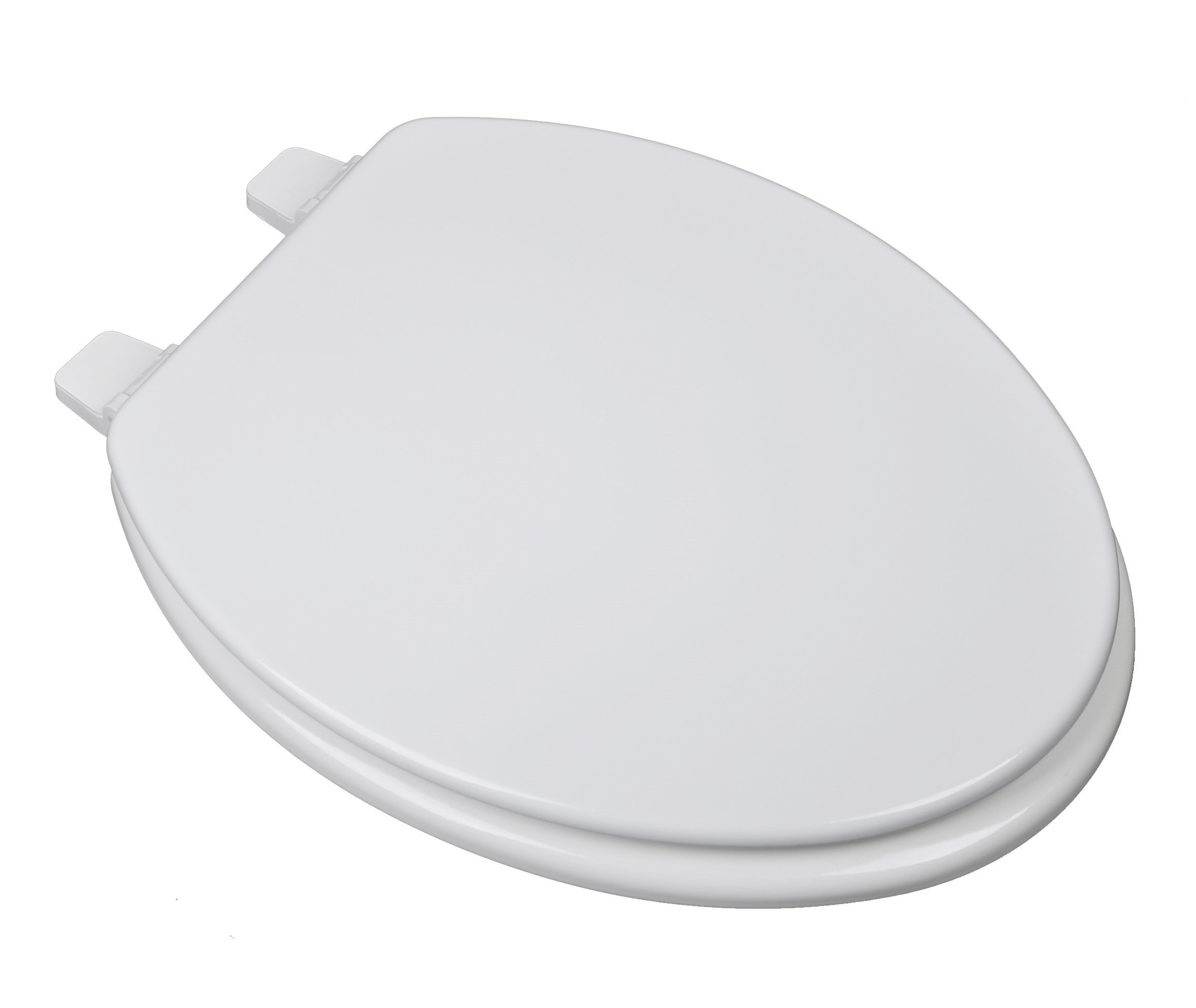 Bath Décor 1F1E2-00 Builder Grade Molded Wood Elongated Toilet Seat with Adjustable Hinge, White