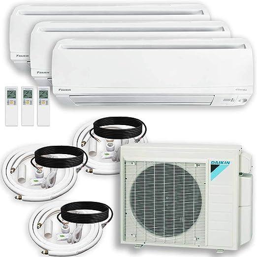 Installation Kit DAIKIN 3 Zone Air Conditioner Heat Pump Wall Bracket 9000 + 15000 + 15000 BTU Maxwell 15 ft