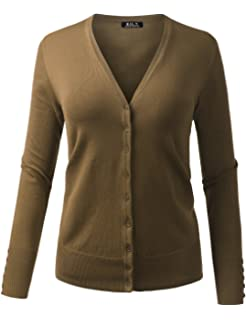 c488dd3766f ... Front Cardigan Sweater Mushroom Beige.  79.99 · BH B.I.L.Y USA Women s  V-Neck Button Down Long Sleeve Soft Classic Knit Cardigan
