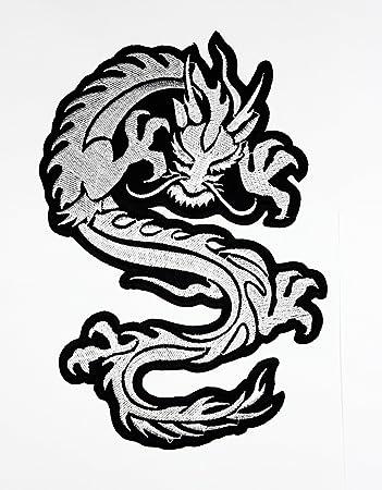 Rabana XXL blanco de dragón chino rojo LUCKY Fantasía Animal Yin ...