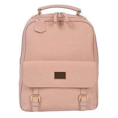 Renwick Leather Backpack,Blush