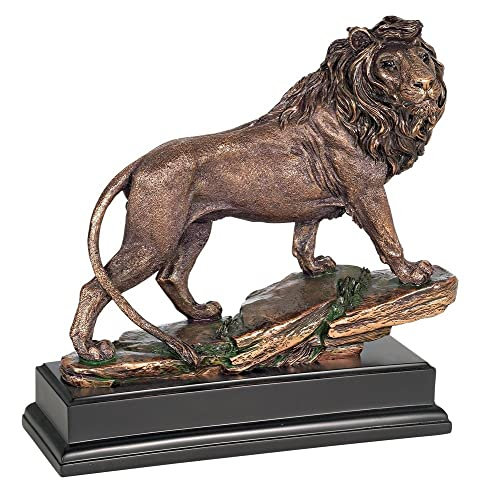 Kensington Hill Regal Lion 11 High Sculpture in A Bronze Finish