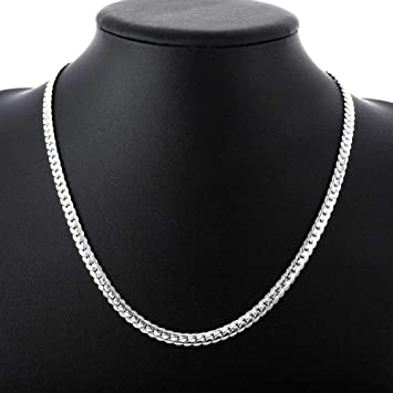 Jewellery & Watches Fashion Women Girl Pure Solid 925 Sterling Silver Strong Rope Chain Necklace DI
