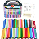 SUNNOW Arcilla Polimérica, 46 Colores Horno Bake Modelado de arcilla Craft Segura y No Tóxica DIY Modelado Craft Set y…
