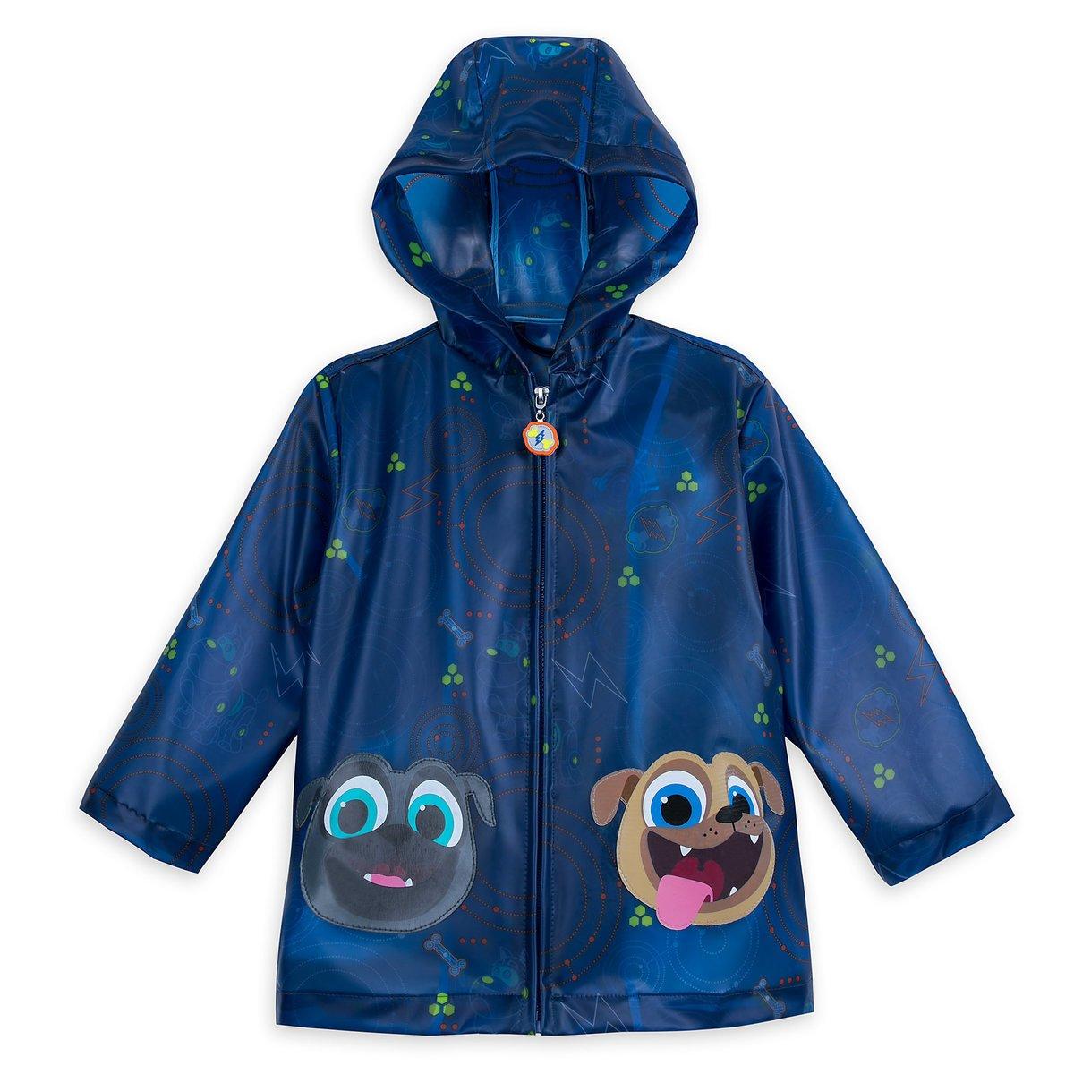 Disney Store Deluxe Puppy Dog Pals Rain Jacket Coat Size S Small 5-6 5T