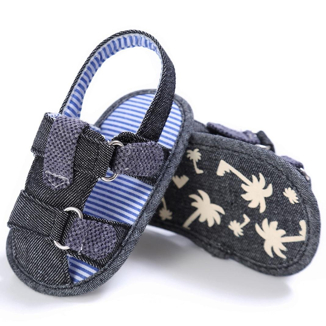 Baby Toddler Canvas Boys Cute Crib T-Tied Soft Prewalker Soft Sole Anti-Slip Shoes Sandals SHOBDW Boys Shoes