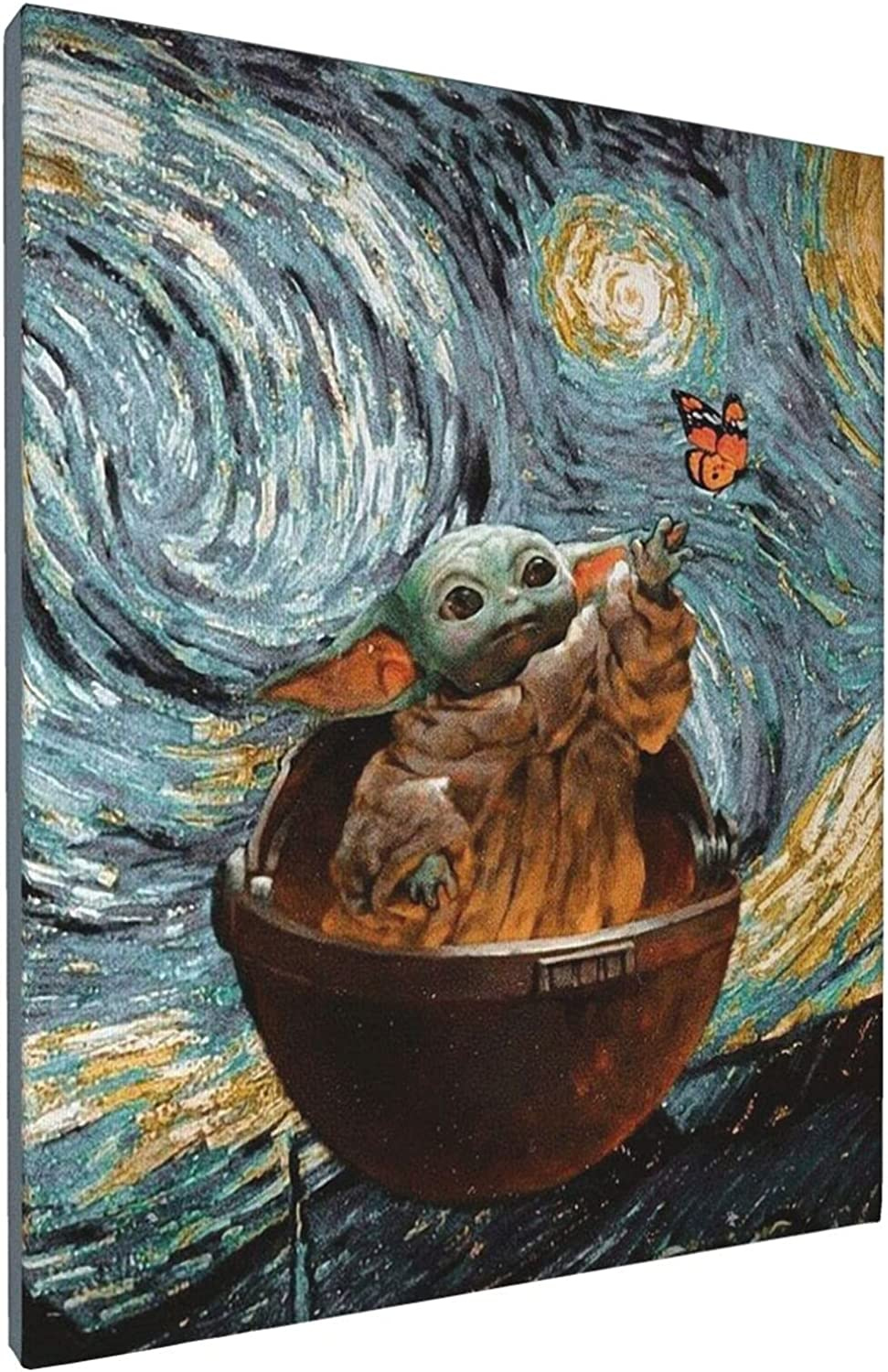 NAOINGEI Baby Yoda Poster Painting Wall Art Picture Canvas Prints For Bedroom Living Room Decor Birthday Gift Unframed For Boys And Girls