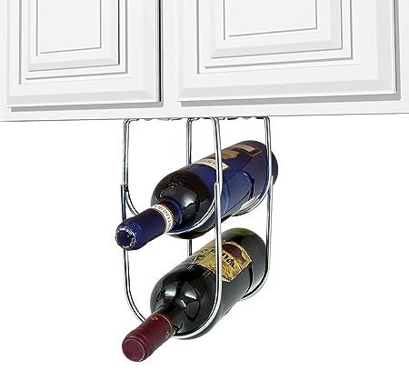 Sorbus® Wine Rack Under Cabinet Double Bottle Wine Holder-cyber ...