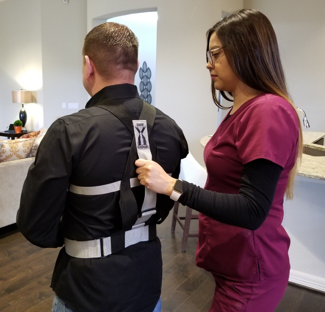 Drop Support Harness - Aiding in Patient Fall Prevention & Balance & Stability. for Epilepsy, Parkinson's, Elderly Care and More. Beneficial for PT/OT's. Increasing Patient Safety Over gait Belts. Parkinson' s