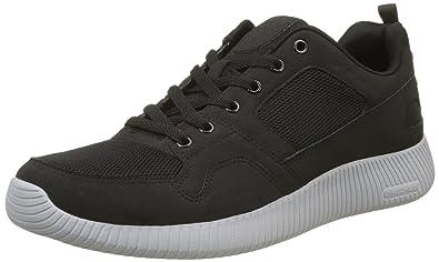 Skechers Mens Black Depth Charge Eaddy Sneakers-UK 6