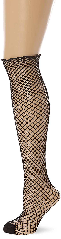 Leg Avenue Women's Plus Size Spandex Industrial Net Stockings w/Unfinished Top 9040Q07001