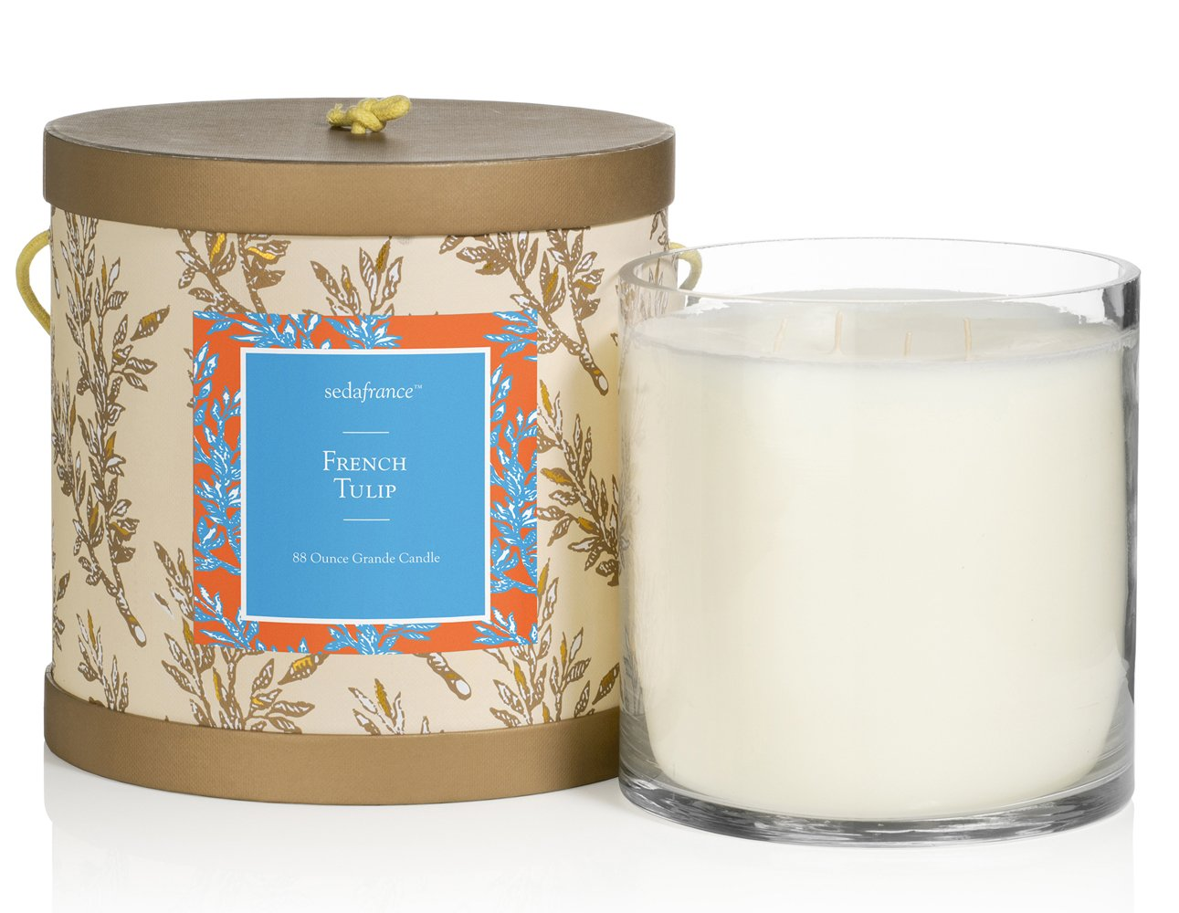 Seda France Classic Toile Candle, French Tulip, 88 Ounce