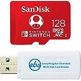 SanDisk 128GB Nintendo Switch Micro SD Card/Switch Lite Memory Card 128 GB High Speed (SDSQXAO-128G-GNCZN) Bundle with 1 TF/M