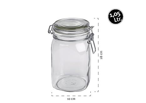 MÄSER Serie Gothika, Einmachglas 1.05 Liter, Vorratsgläser mit ...