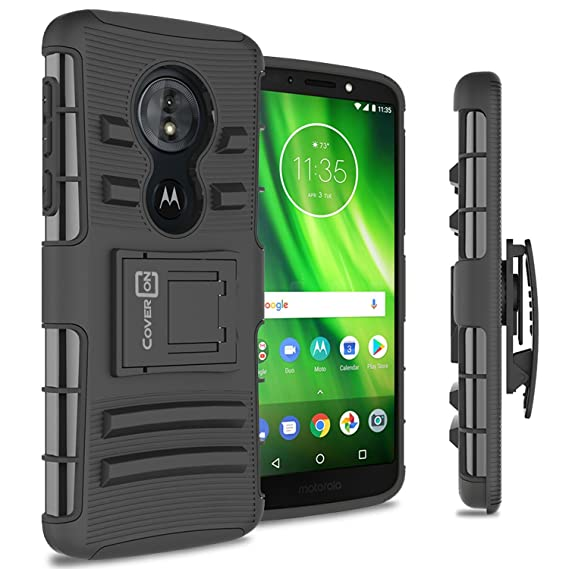 huge discount f2719 ec420 Moto G6 Play Case with Clip, Moto G6 Forge Holster Case, CoverON Explorer  Series Heavy Duty Dual Layer Kickstand Phone Cover with Belt Clip Holster  ...